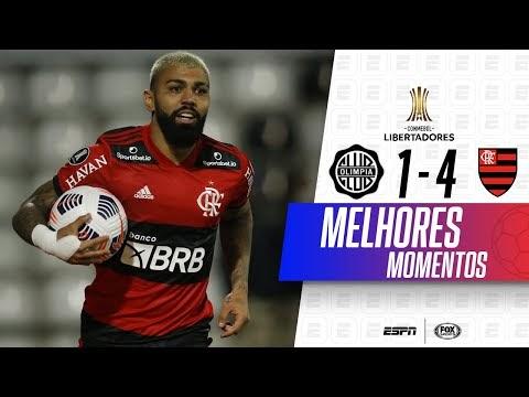 FLA goleia Olímpia e coloca um pé na semifinal da Libertadores