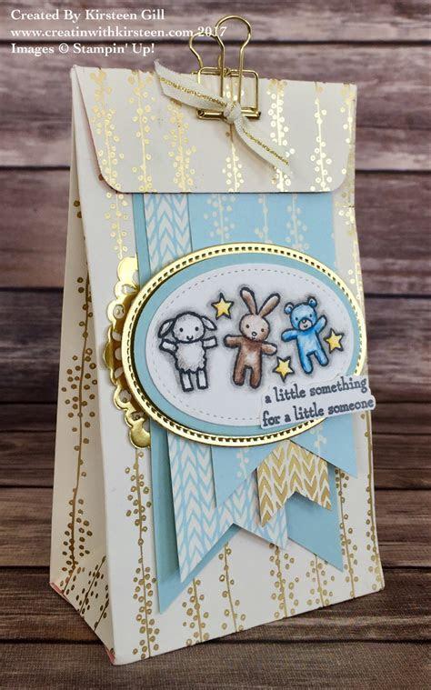 Baby Gift Bag using Bundle of Love Designer Paper and Moon