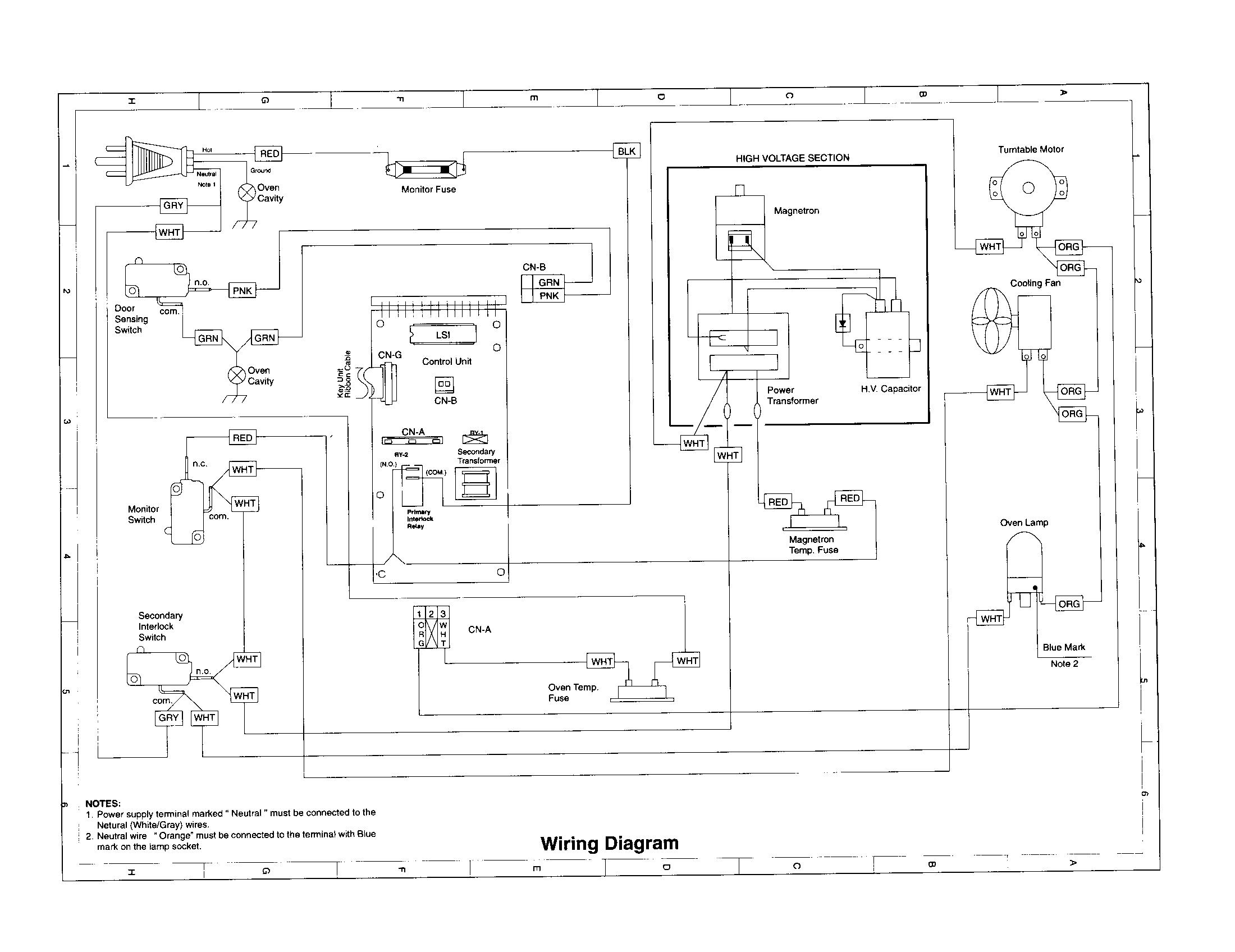 Wiring Diagram  33 Sharp Carousel Microwave Parts Diagram