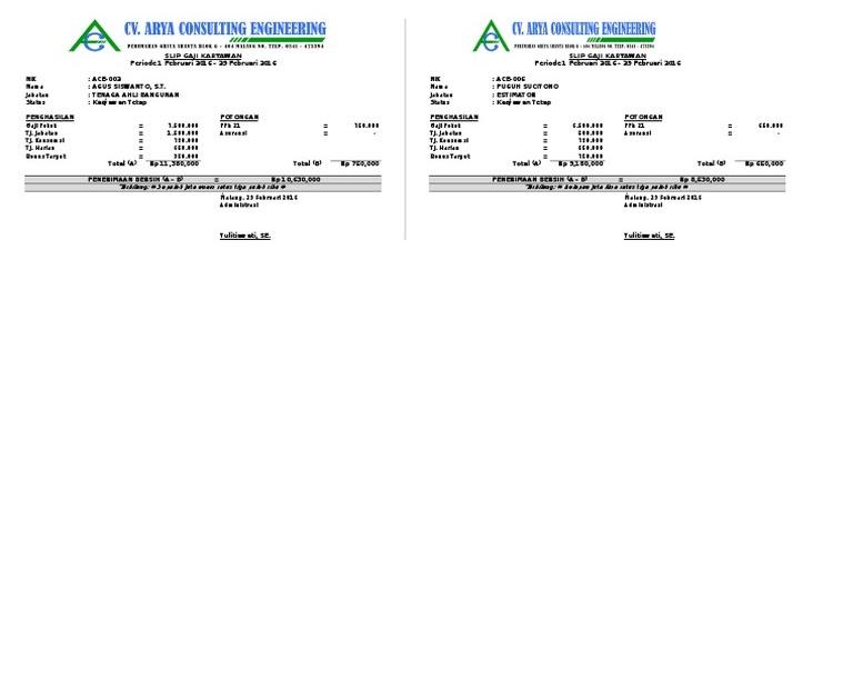 Contoh Excel Gaji Karyawan : Tutorial Belajar Excel - Cara ...