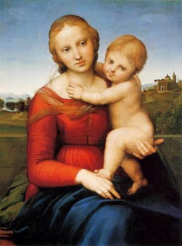 RAFFAELLO Madonna and Child (The Small Cowper Madonna) - fine-art Photo