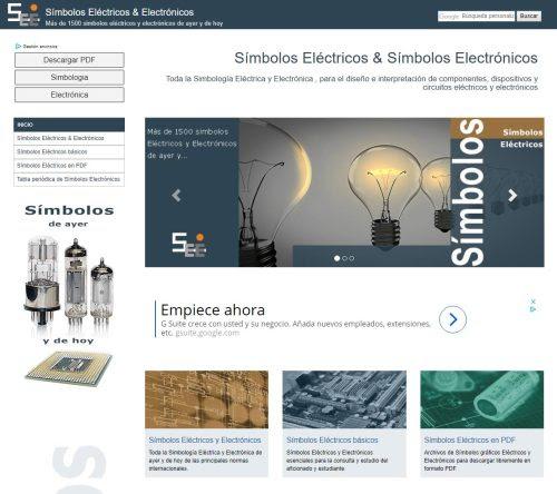 web de símbolos eléctricos