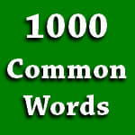 1000 Most Common English Words
