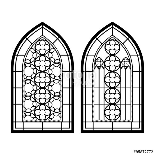 Stained Glass Vector At Getdrawingscom Free For Personal Use