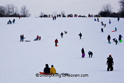 Sledding at Elver Park, Madison, Wisconsin