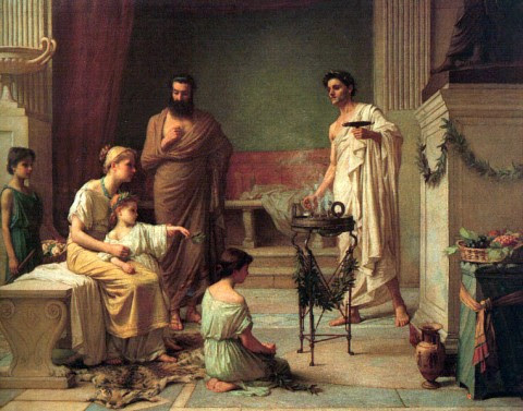 A Sick Child Brought Into The Temple of Aesculapious