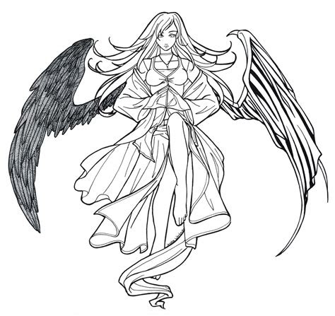 angel anime drawing  getdrawingscom   personal