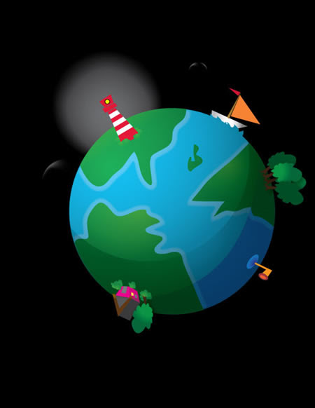 How to Create a Cute Earth Illustration in Vector