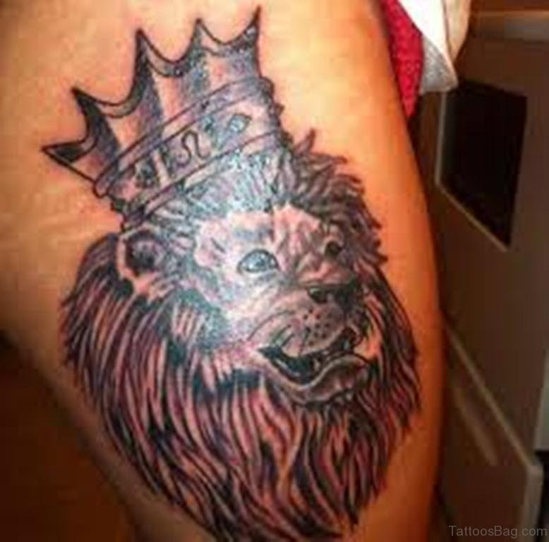 Female Lion Tattoo With Crown 91099 Loadtve