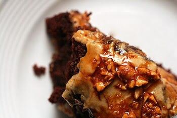 Chocolate Cake with Milk Chocolate-Peanut Butt...