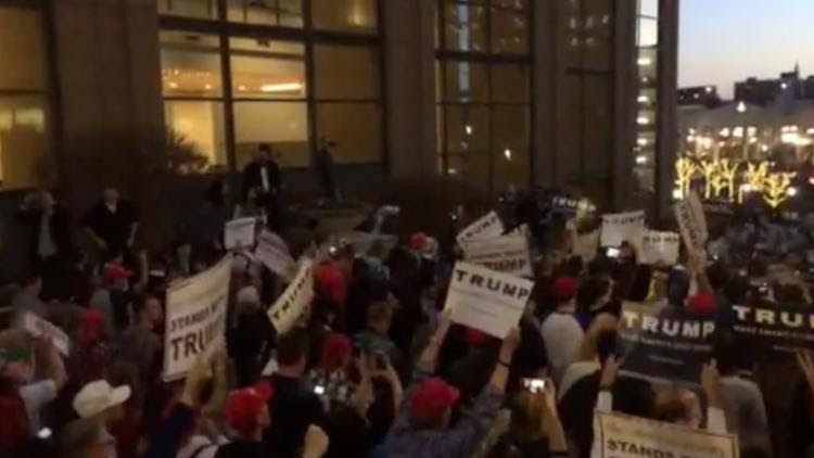 Donald Trump Protesters, Supporters After Hartford Rally