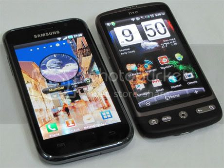 Galaxy S and HTC Desire