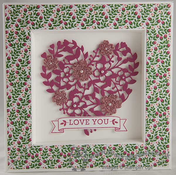 The Crafty Owl Love Blossoms Bloomin Heart Shadow Box Frame Card