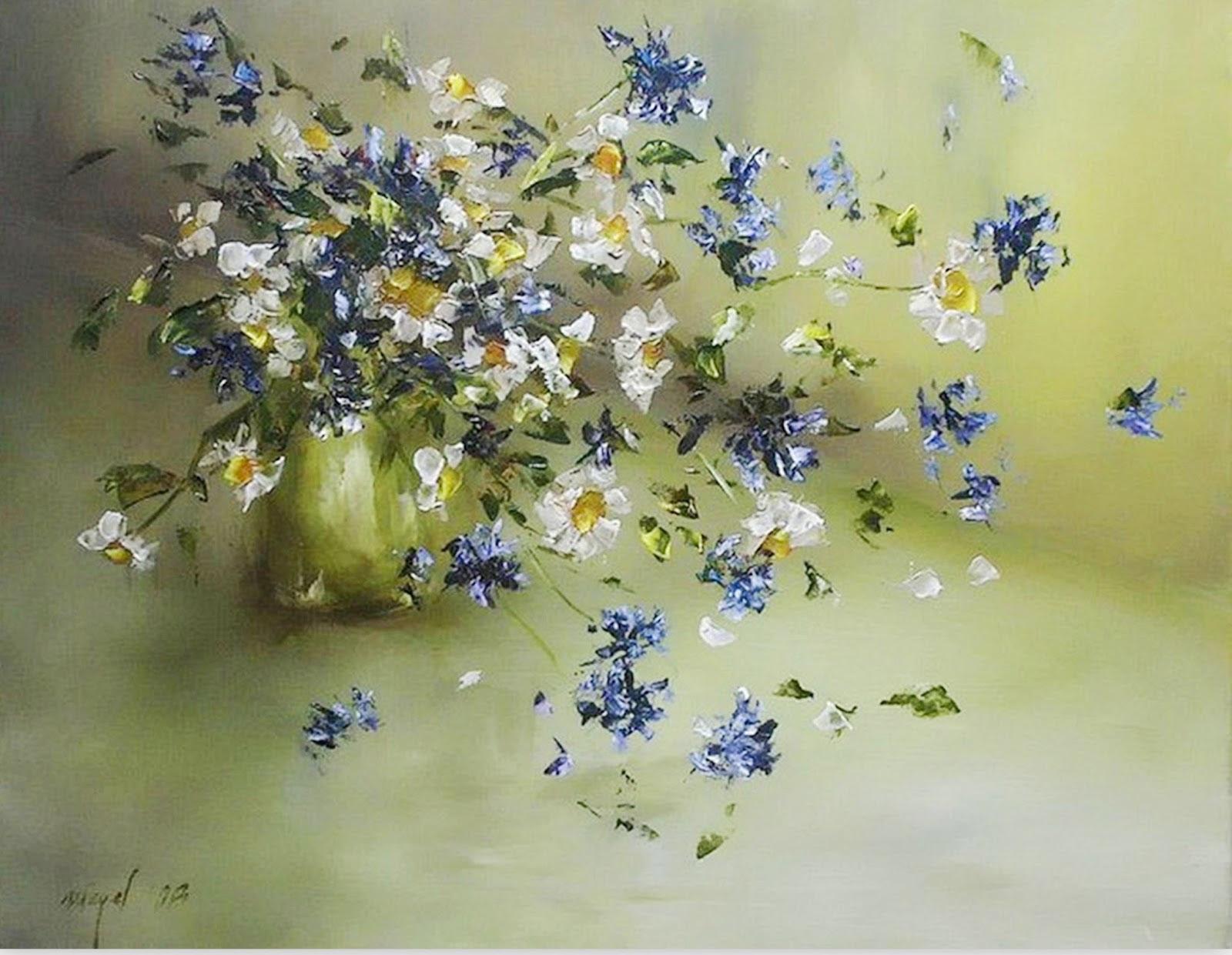 Como Pintar Flores Al Oleo Vernajoyce Blogs