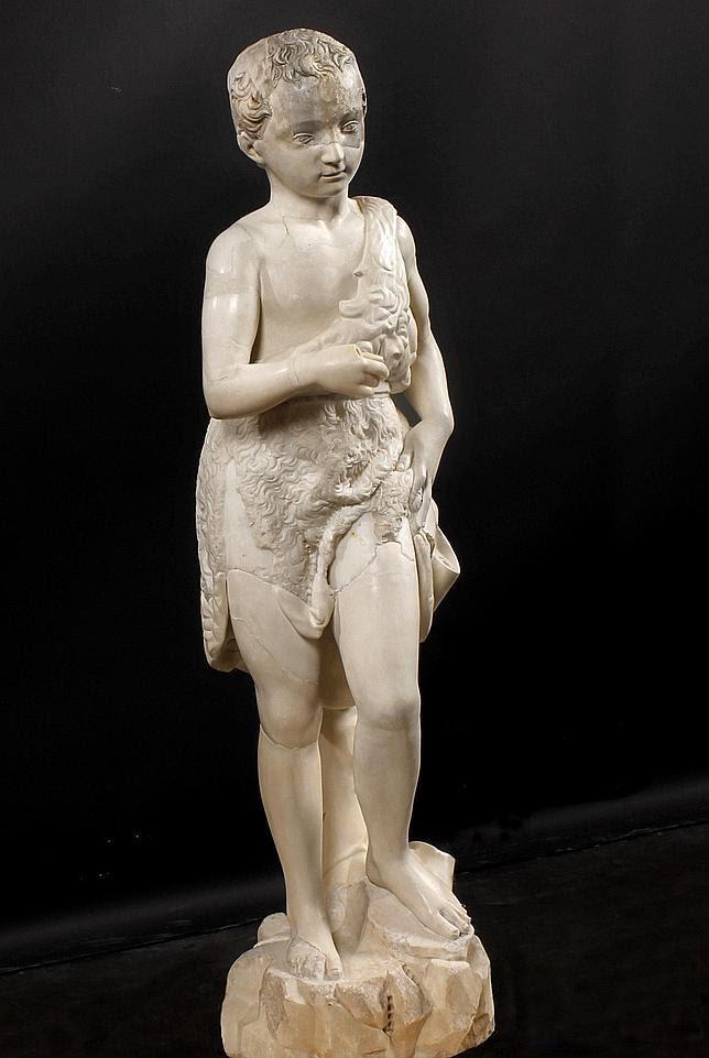 El «San Juan Bautista niño», de Miguel Ángel, regresa a casa