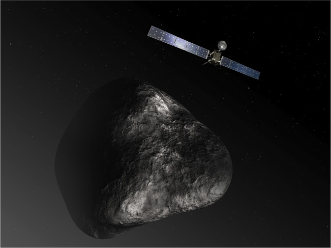 Rosetta orbiter at comet 67P/Churyumov–Gerasimenko