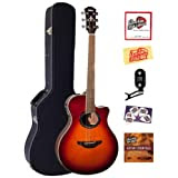 Yamaha APX700 Thinline Cutaway Acoustic-Electric Guitar Bundle with Hardshell Case, Tuner, Instructional DVD,...