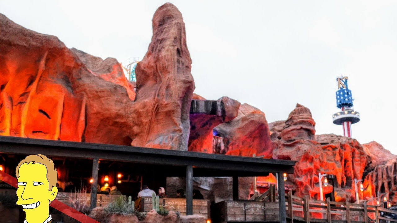 Red Rock facade of Calico Mine Ride at Knott's Berry Farm