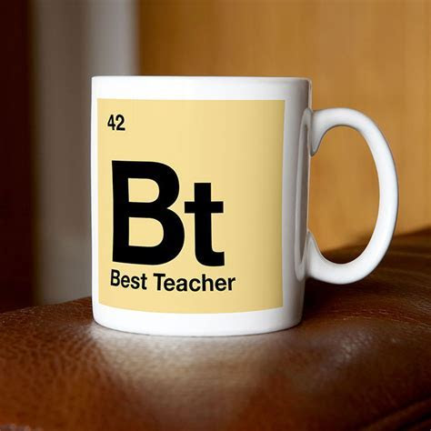 Personalised Mug   Best Teacher   Periodic Table   Mugs By