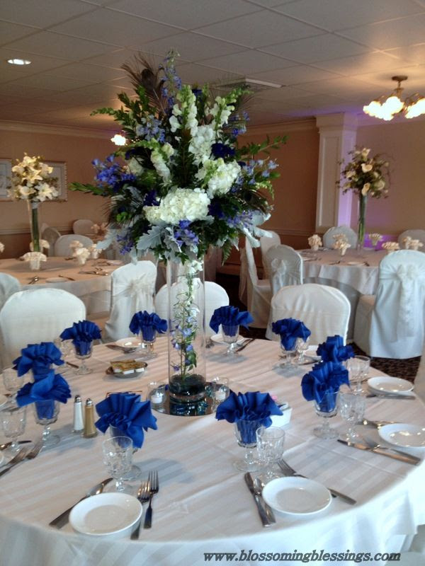 Royal Blue Wedding | Reception Centerpieces | Pinterest
