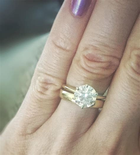 Engagement Ring And Wedding Band Combinations   Wedding