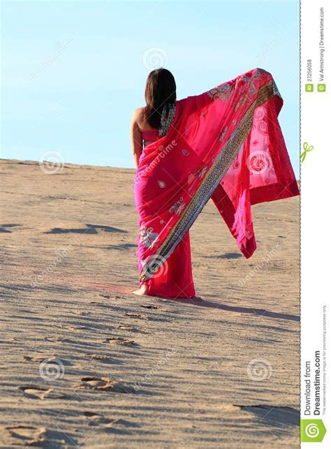 Woman Footprints In Desert Royalty Free Stock Photos