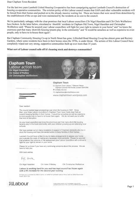 Betrayed by Clapham Town councillors