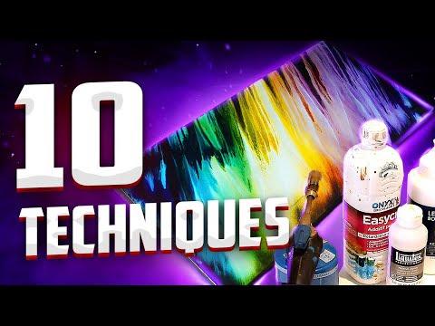 Peinture Acrylique 10 Techniques Astuces à Connaître Youtube