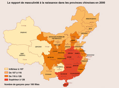 Chine - rapport hommes-femmes