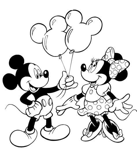 Belajar Mewarnai Mewarnai Halaman Gambar Kartun Mickey Mouse