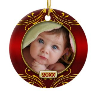 Baby's First Christmas Photo Frame ornament