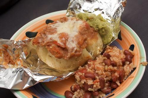 nacho style baked potato