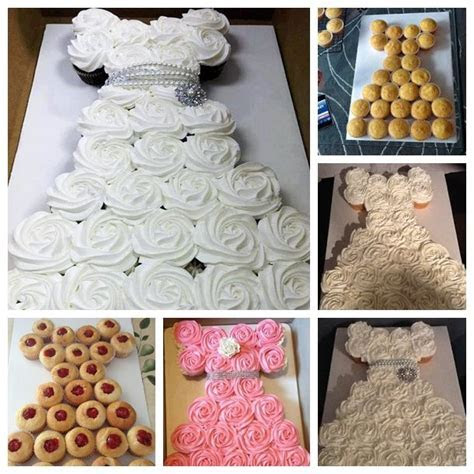 Best 25  Wedding dress cupcakes ideas on Pinterest