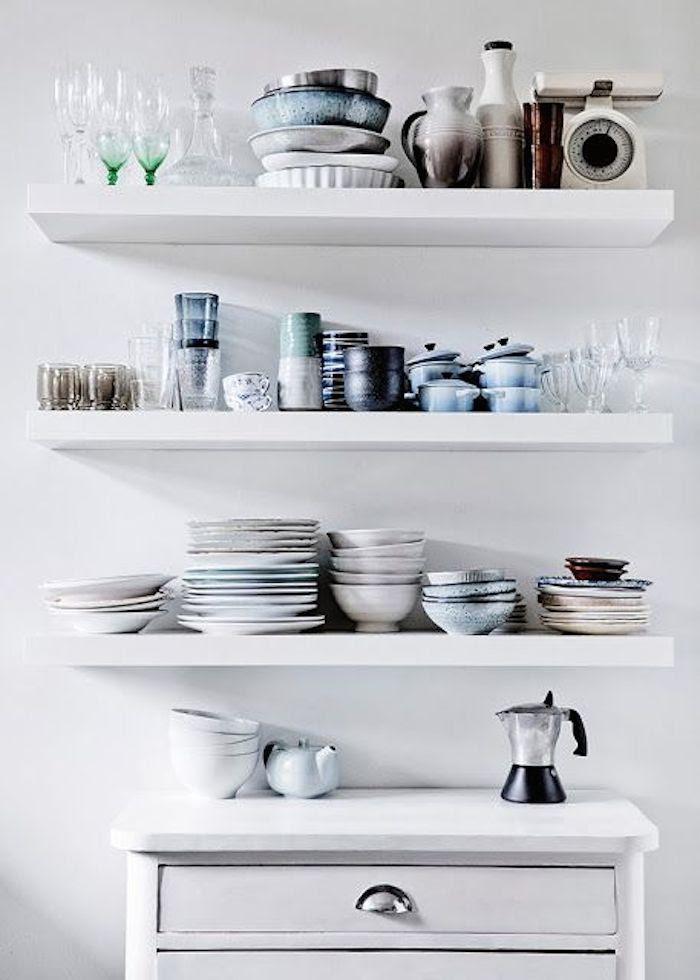 Floating Kitchen Shelves - Fashionable Hostess