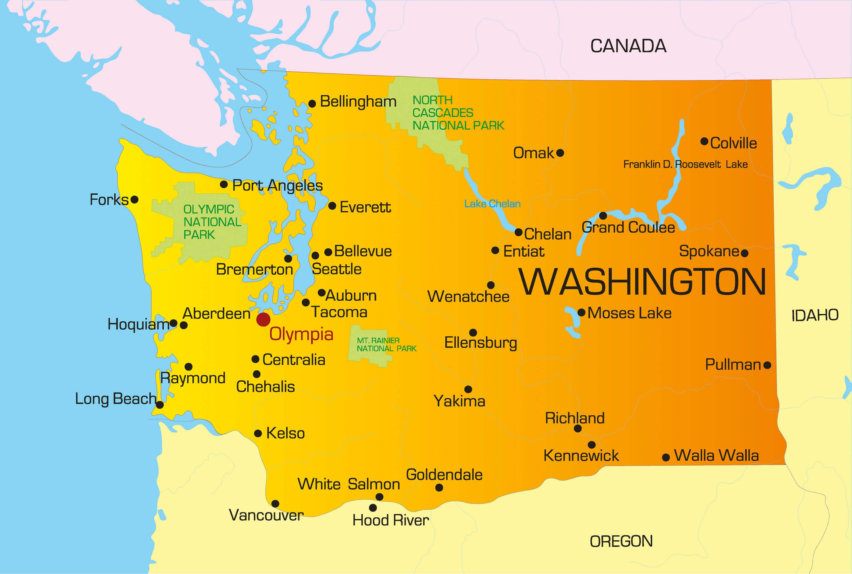 Spokane Washington Map Spokane Washington Map   States Maps