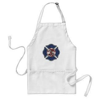 Patriotic Firefighter Maltese apron