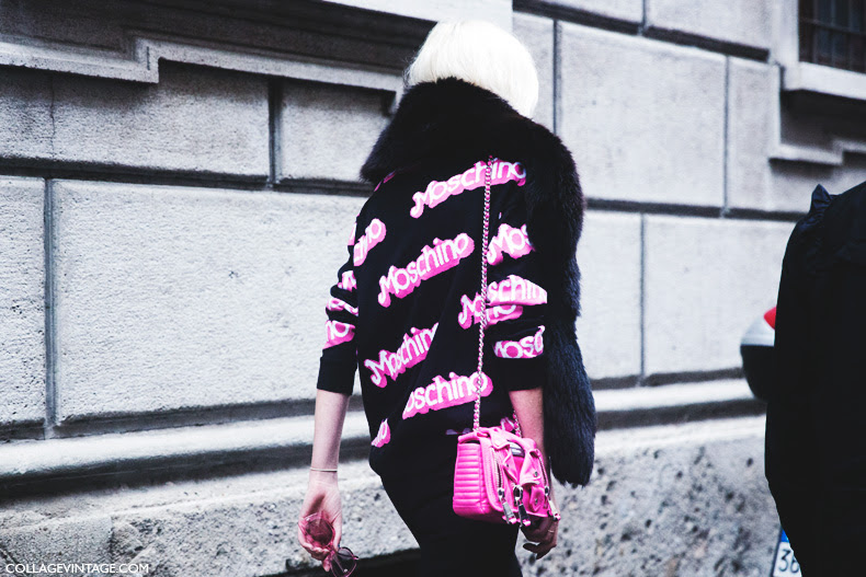 Milan_Fashion_Week_Spring_Summer_15-MFW-Street_Style-Moschino_Barbie_SweatShirt-Bag-