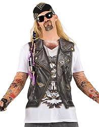 Faux Leather Biker Vest T-shirt