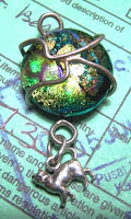 dichroic pendant from Christa Maria