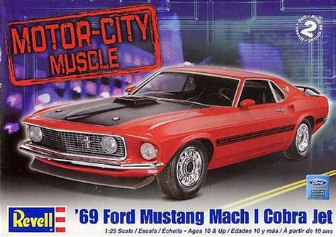 revell  mustang mach  cobra jet car model kit