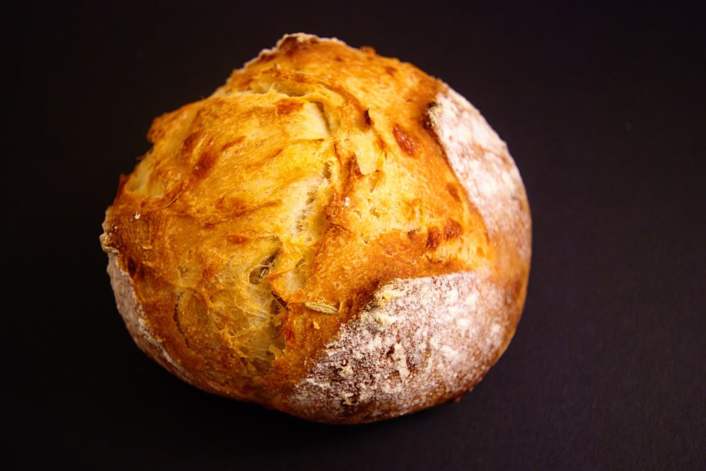 A small homemade piece of bread.
