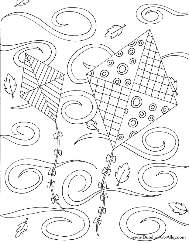 Fall Coloring Pages - Doodle Art Alley