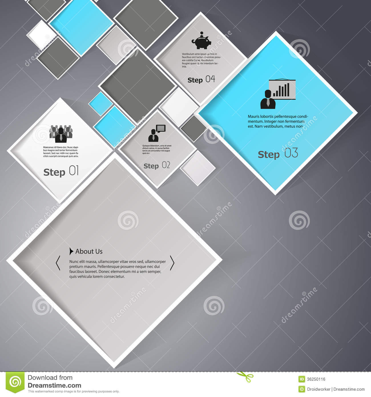 Vector Abstract Squares Background Illustration / Infographic ...