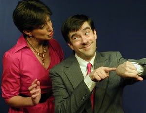 Leah Walton is the hapless Molly Snyder and Tony Braithwaite the satanic civil servant the Montgomery Theater production.