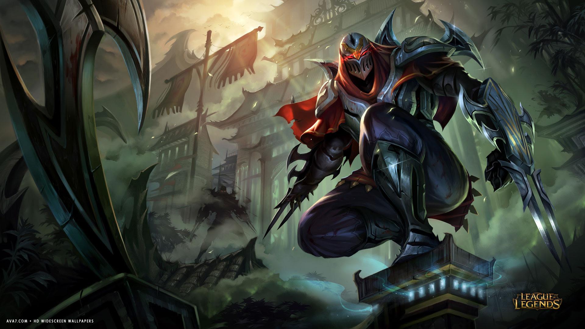 League Of Legends Game Lol Zed Warrior Hd Widescreen Wallpaper