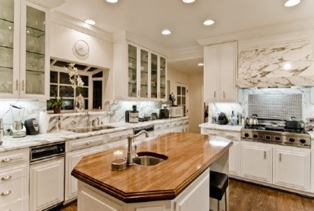 Big Marble Kitchen - modern - kitchen - los angeles