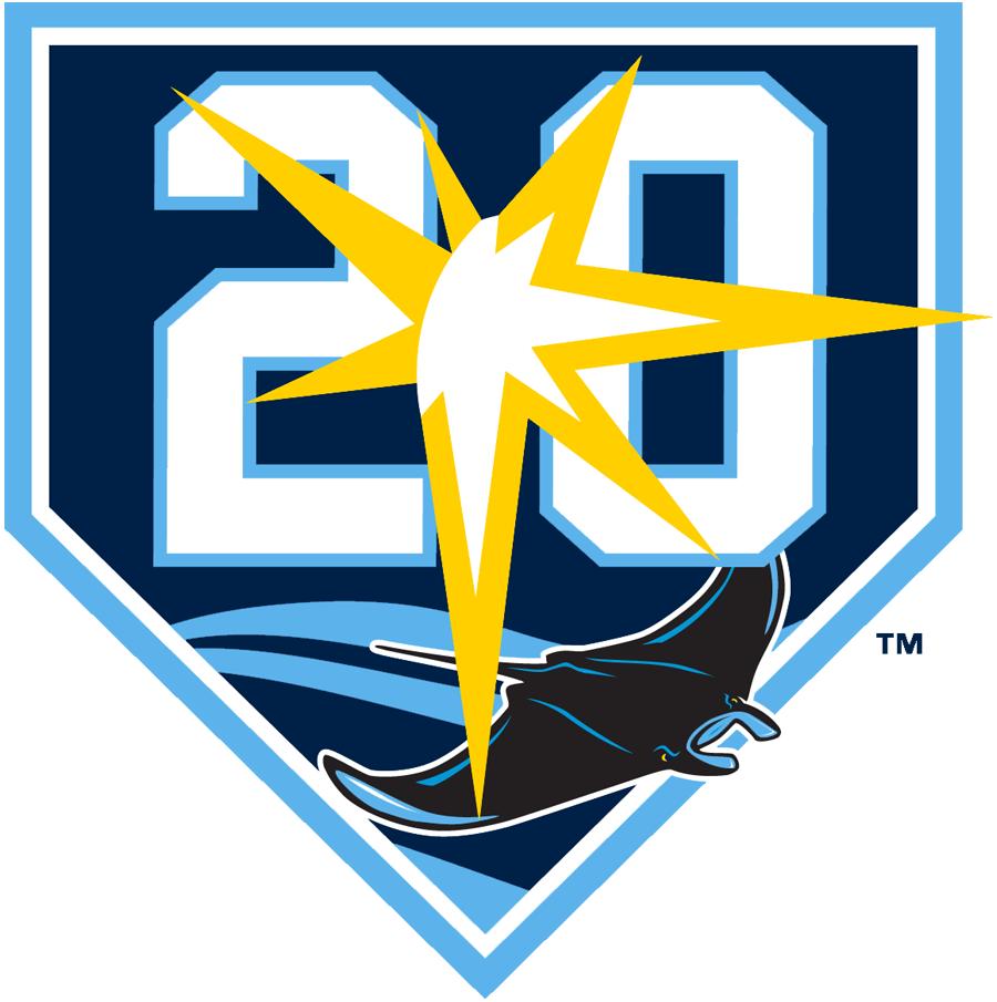 Tampa Bay Rays Anniversary Logo - American League (AL ...