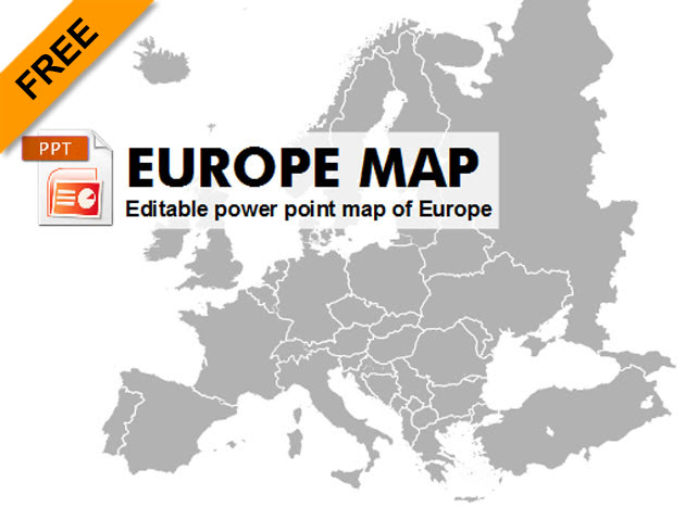 Free editable powerpoint map of Europe - Graphic-flash-sources