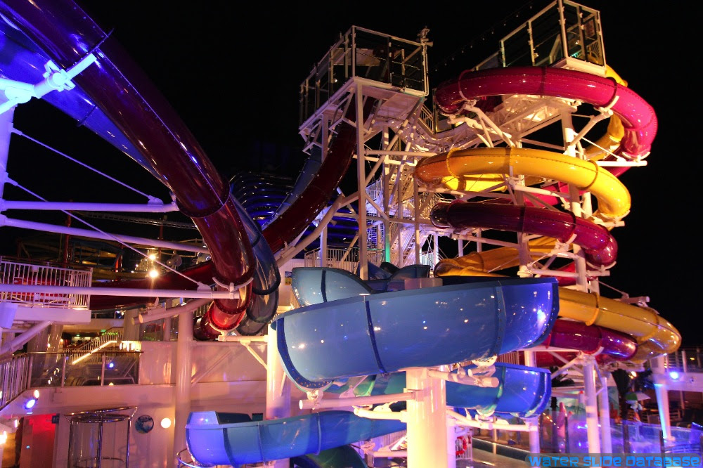 Water Slides At Night