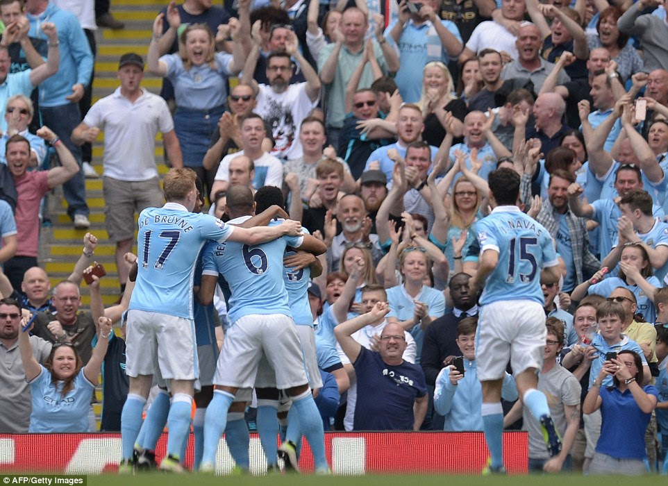 With rivals Manchester United winning on Saturday, City knew Sunday's clash was a must-win and they enjoyed their first-half opener